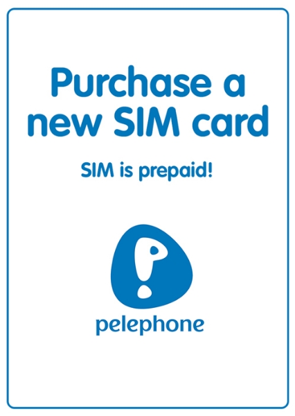 """Picture of Purchase new prepaid """"Pelephone"""" local SIM card starting at"""
