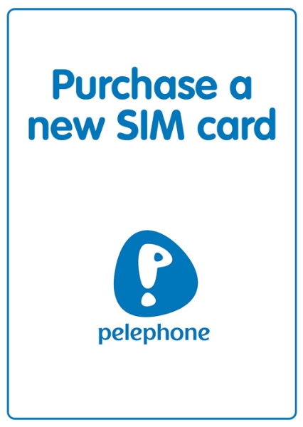 """Picture of Purchase a new """"Pelephone"""" local SIM card. SIM is not prepaid."""