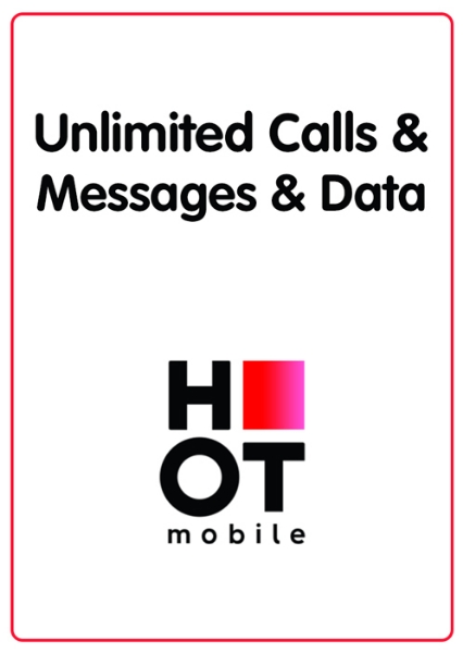 Picture of Hot Mobile - Unlimited calls and SMS + 100 GB Data+ 30 NIS calls abroad